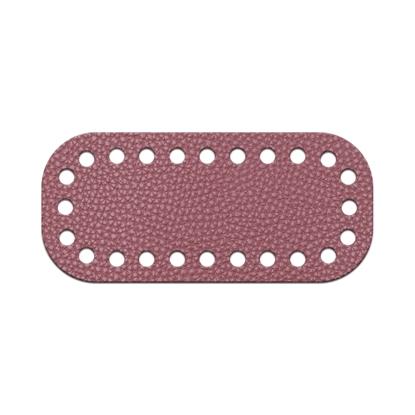 картинка донышко для мини-сумки из экокожи, размер:5х11см, цвет: розовое вино