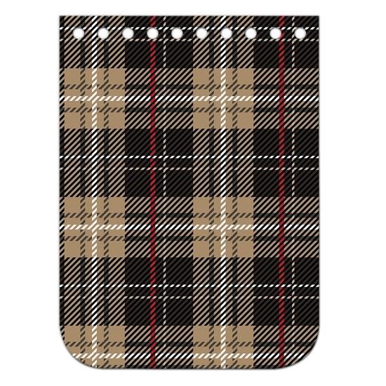картинка крышка-клапан из экокожи с принтом шотландская клетка, для вязания мини-сумки из шнура, размер:11х15см, цвет: бергамо, купить недорого в Москве