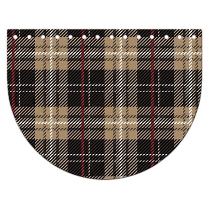 картинка крышка-клапан овал 15х20см для вязаной сумки из  трикотажной пряжи и шнура, цвет: бергамо